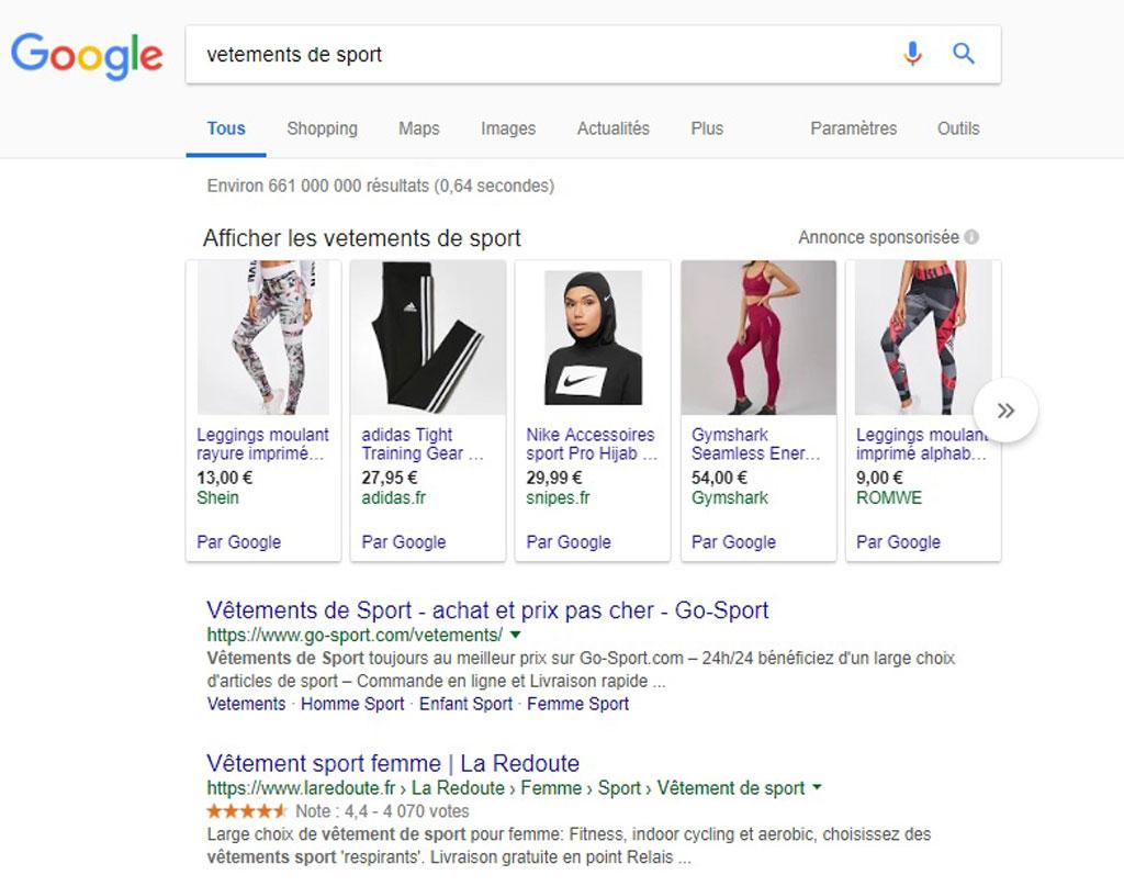 exemple recherche google